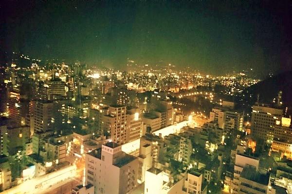 瀬戸内海方面の夜景