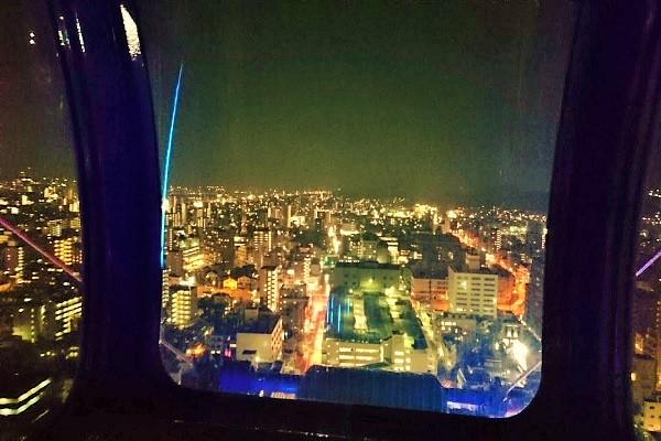 松山空港方面の夜景