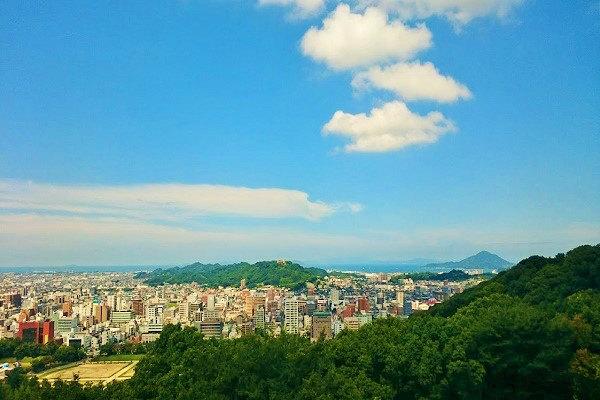 松山城広場からの景色